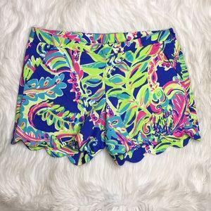 Lilly Pulitzer Scalloped hem shorts tropical